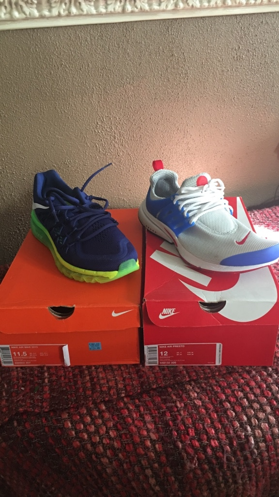 232d208e4 ... low cost air max size 11.5 never worn nike presots size 12 worn once  best offer