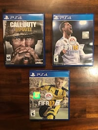 Fifa 18/17 and call of duty WW2 Vienna, 22180