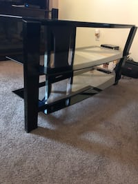 3 glass shelf tv stand for 48 inch TV