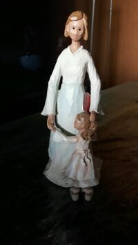 Beautiful wooden Mother and Daughter Figurine