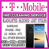 T-mobile IMEI cleaning service  Austin, 78750