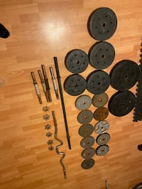 Best 225 Pounds of Weights Set!