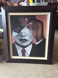 Hand Painted Canvas Picture of Man in Disguise Professionally  Framed Cibolo, 78108