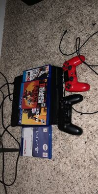 PS4 slim including madden 19, NBA 2K19, Red Dead Redemption 2, Shadow of War, 2 perfectly intact controllers with charging chord, power & HDMI source included Ashburn, 20147
