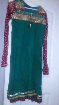 women's green red and brown sequin long sleeve dress Ontario, M1R 2L6