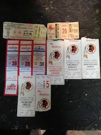 1979 redskins an caps tickets stubbs Brookeville, 20833