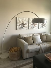 Floor Arc Lamp with marble base Toronto, M8Y