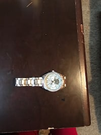 round gold chronograph watch with link bracelet Winnipeg, R2R 2W7
