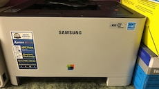 New laser colour printer xpress c410w. With ink
