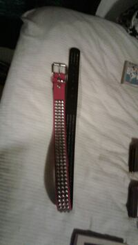 Red leather belt size 34 never been worn before