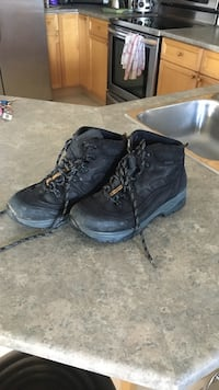 Pair of black leather work boots 3161 km