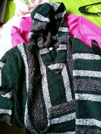 Green and black knitted jacket
