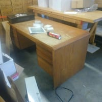 brown wooden desk with hutch Madison, 39110