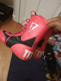 Tittle boxing shoes and hand raps  Baltimore, 21206