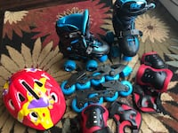 Roller Skates & inline, size - 12 to 2. adjustable With safety tools