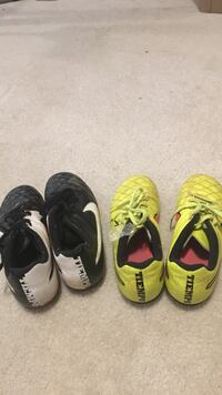 Three pairs of assorted Nike soccer  shoes 8 mi