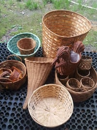 four brown wicker baskets and two brown wicker bas Barnegat Township, 08005