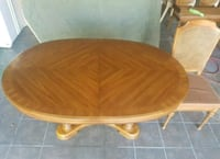 brown wooden dining set St. Catharines, L2N 7L6