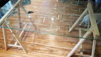 Glass Graffiti paint/ dining table