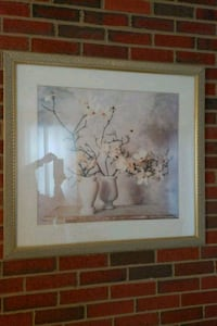 brown wooden framed painting of white flowers Frederick, 21703