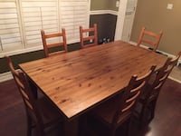 Solid wood dining table for sale (CHAIRS HAVE BEEN SOLD) Brampton