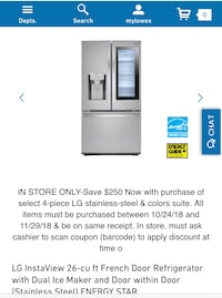 gray Whirlpool side-by-side refrigerator screenshot Hyattsville, 20785