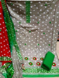 green and white polka-dot textile Navi Mumbai, 400709