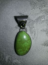 Jewerly Pendent  gasperite and peridot  Ridley Park, 19078