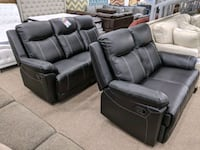 No credit needed black reclining sofa and loveseat  College Park