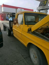yellow single cab utility truck 1780 mi