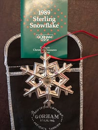 1989 Gorham Silver Snowflake Ornament Sterling, 20165