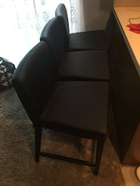 3 Black nice tall bar height chairs  Colchester, 06415