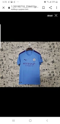 Soccer jersey manchester city