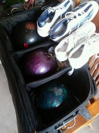 Bowling ball set w/ his her shoes Martinsburg, 25401