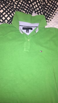 green Tommy Hilfiger polo shirt