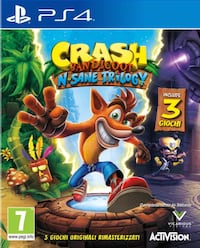Crash Bandicoot trilogy ps4 ( no disco) Città Metropolitana di Roma