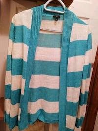 blue and white stripe cardigan Mount Airy, 21771