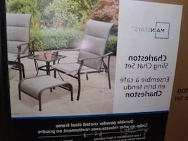 * NEW IN BOX *Mainstays Charleston Sling Chair set