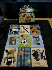 Lambs & Ivy bow wow 8pc bedding set