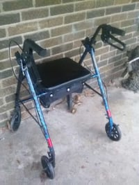 blue and black rollator