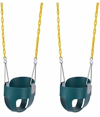 "Lovely Snail 2 Pack Toddler Swing Seat-High Back Full Bucket Swing Seat with 66"" Plastic Coated Chains Springfield, 22153"