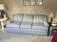 Sofa with Blue Checked Pattern