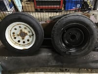 Two (2) 4.80-12 6 ply high speed trailer tires (1 unused) Saint Cloud, 56303