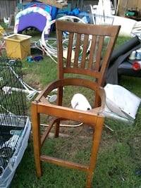 brown wooden rocking chair with white pad Oklahoma City, 73109