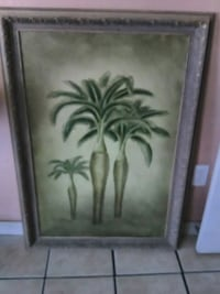 green tree palms painting and brown frame Delhi, 95315