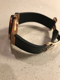 Round gold-colored chronograph hublot watch with link bracelet Port Coquitlam, V3B 3P7