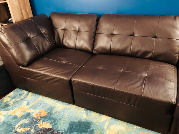 Sectional Sofa Set #dark brown #Excellent Condition 2