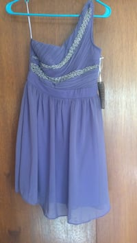 Size small purple off the shoulder dress. Tags still attached. Never worn.  Beaverton, 97006