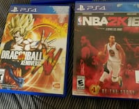 Ps4 games dragonball and 2k Anaheim
