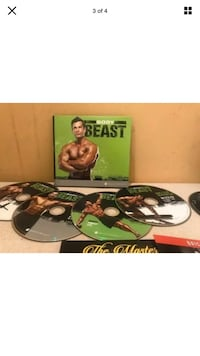Body Beast Exercise 7 Dvds & Book New